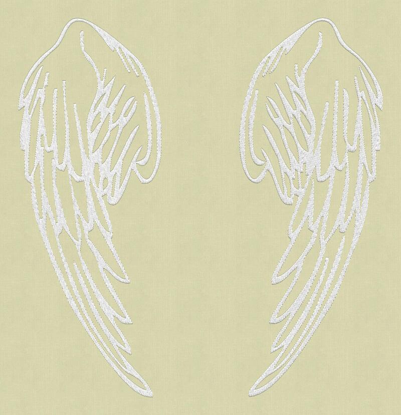 Вышивка крылья ангела 33